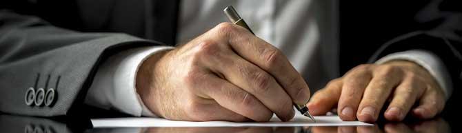 A written letter of progress