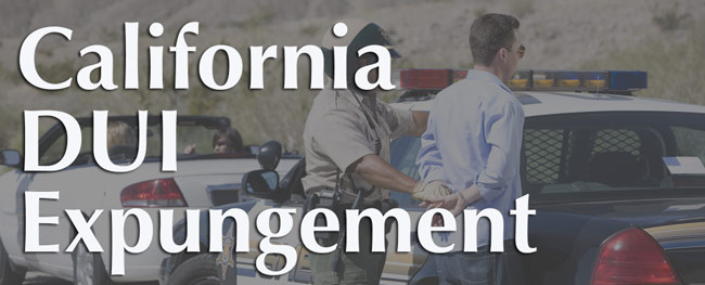 California DUI expungement