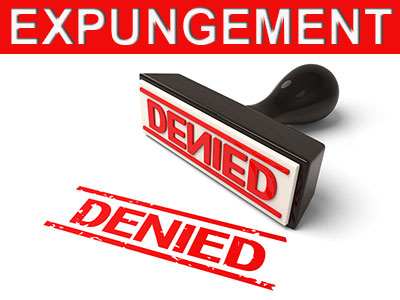 Why an expungement might be denied